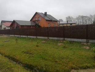 Medinė tvora_surenkamas tvoros pamatas