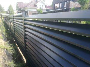 Žaliuzinė tvora, vienpusė