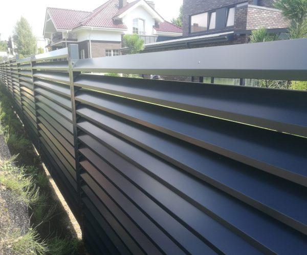 Žaliuzinės tvoros, vienpusės skardos