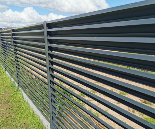 Dvipusio dažymo žaliuzinė tvora